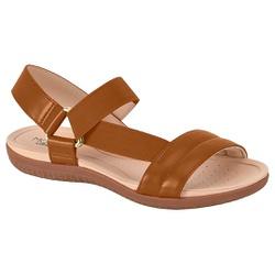 Sandália para Esporão e Fascite com Elástico - Camel - MO7125-229CA - Pé Relax Sapatos Confortáveis