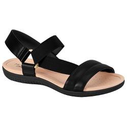 Sandália para Esporão e Fascite com Elástico - Preta - MO7125-229PT - Pé Relax Sapatos Confortáveis