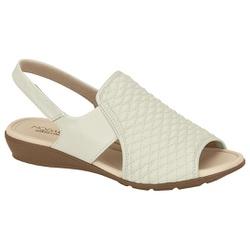 Sandália para Esporão e Fascite - Branco - MO7127-229BR - Pé Relax Sapatos Confortáveis