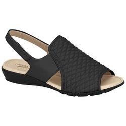 Sandália para Esporão e Fascite - Preta - MO7127-229PT - Pé Relax Sapatos Confortáveis