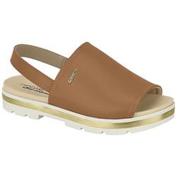 Sandália Confortável - Camel - MO7132-120CA - Pé Relax Sapatos Confortáveis