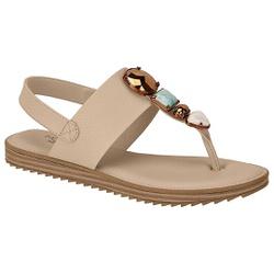 Sandália Confortável - Bege - MO7141-104BG - Pé Relax Sapatos Confortáveis