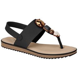 Sandália Confortável - Preta - MO7141-104PT - Pé Relax Sapatos Confortáveis