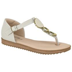 Sandália Confortável Fechada Atrás - Branco - MO7141-116BR - Pé Relax Sapatos Confortáveis