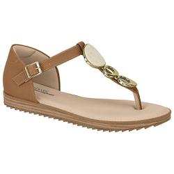 Sandália Confortável Fechada Atrás - Camel - MO7141-116CA - Pé Relax Sapatos Confortáveis