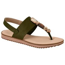 Sandália Confortável - Verde - MO7141-120OL - Pé Relax Sapatos Confortáveis
