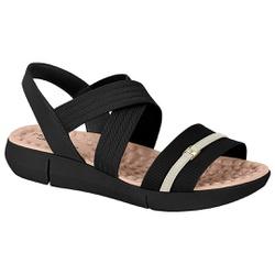 Sandália para Esporão e Fascite Confort - Preta / Branca - MO7142-102PB - Pé Relax Sapatos Confortáveis