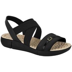 Sandália Anatômica Confort - Preta - MO7142-102PT - Pé Relax Sapatos Confortáveis