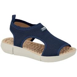 Sandália para Esporão e Fascite com Massageador - Azul - MO7142-115AZ - Pé Relax Sapatos Confortáveis