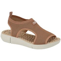 Sandália para Esporão e Fascite com Massageador - Bege - MO7142-115BG - Pé Relax Sapatos Confortáveis