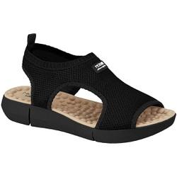 Sandália para Esporão e Fascite com Massageador - Preta - MO7142-115PT - Pé Relax Sapatos Confortáveis