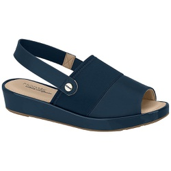 Sandália Feminina para Fascite - Azul - MO7150-101AZ - Pé Relax Sapatos Confortáveis