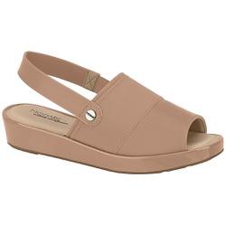 Sandália Feminina para Fascite - Bege - MO7150-101BG - Pé Relax Sapatos Confortáveis