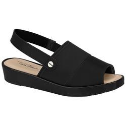 Sandália Feminina para Fascite - Preta - MO7150-101PT - Pé Relax Sapatos Confortáveis