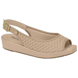Sandália Feminina para Esporão - Bege - MO7150-103BG - Pé Relax Sapatos Confortáveis
