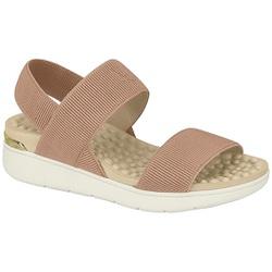 Sandália para Esporão e Fascite - Bege - MO7151-102BG - Pé Relax Sapatos Confortáveis