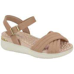 Sandália Feminina para Esporão e Fascite - Bege - MO7151-107BG - Pé Relax Sapatos Confortáveis