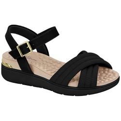 Sandália Feminina para Esporão e Fascite - Preta - MO7151-107PT - Pé Relax Sapatos Confortáveis