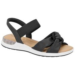 Sandália c/ Amortecedor Gel para Esporão e Fascite - Preta - MO7159-102PT - Pé Relax Sapatos Confortáveis