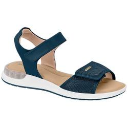 Sandália c/ Amortecedor Gel para Esporão e Fascite - Azul - MO7159-103AZ - Pé Relax Sapatos Confortáveis
