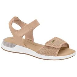 Sandália c/ Amortecedor Gel para Esporão e Fascite - Bege - MO7159-103BG - Pé Relax Sapatos Confortáveis