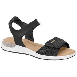 Sandália c/ Amortecedor Gel para Esporão e Fascite - Preta - MO7159-103PT - Pé Relax Sapatos Confortáveis