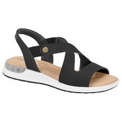 Sandália c/ Amortecedor Gel para Esporão e Fascite - Preto - MO7159-104PT - Pé Relax Sapatos Confortáveis