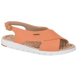 Sandália para Esporão e Fascite - Coral - MO7162-103CO - Pé Relax Sapatos Confortáveis
