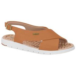 Sandália para Esporão e Fascite - Camel - MO7162-103CA - Pé Relax Sapatos Confortáveis