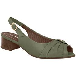 Sandália Salto Baixo - Oliva - PI114028OV - Pé Relax Sapatos Confortáveis