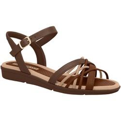 Sandália Feminina para Fascite e Esporão - Madeira - PI401239MA - Pé Relax Sapatos Confortáveis