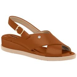 Sandália Feminina para Esporão e Fascite - Ocre - PI458007OC - Pé Relax Sapatos Confortáveis
