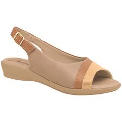 Sandália Esporão e Fascite - Areia - PI500248AR - Pé Relax Sapatos Confortáveis