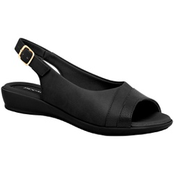 Sandália Feminina Esporão e Fascite - Preta - PI500248PT - Pé Relax Sapatos Confortáveis