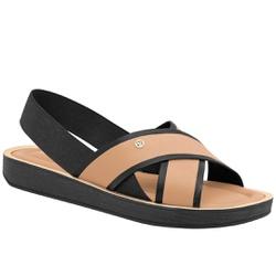 Sandália Esporão e Fascite - Preto e Bege - PI377005PT - Pé Relax Sapatos Confortáveis