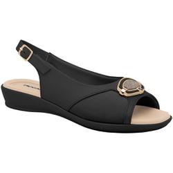 Sandália para Joanete, Esporão e Fascite - Preto - PI500292PT - Pé Relax Sapatos Confortáveis