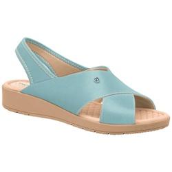 Sandália Esporão e Fascite com Elástico - Azul - PI561037AZ - Pé Relax Sapatos Confortáveis