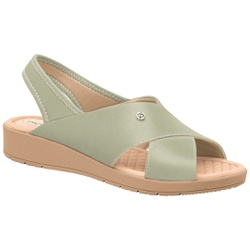 Sandália Esporão e Fascite com Elástico - Menta - PI561037ME - Pé Relax Sapatos Confortáveis