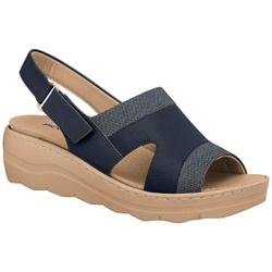 Sandália Palmilha Removível (acompanha palmilha massageadora) - Nav - PI568027NAV - Pé Relax Sapatos Confortáveis