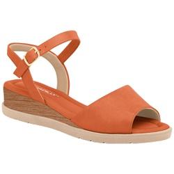 Sandália Anatômica - Laranja - PI458003LR - Pé Relax Sapatos Confortáveis