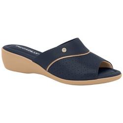 Tamanco Esporão e Joanete - Azul Nav - PI416078AZ - Pé Relax Sapatos Confortáveis