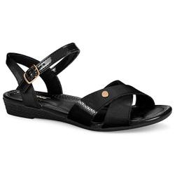 Sandália Conforto - Preta - CAL7063PT - Pé Relax Sapatos Confortáveis