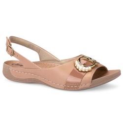 Sandália Feminina para Esporão e Fascite Plantar - Bege - CAL6837-0005BG - Pé Relax Sapatos Confortáveis