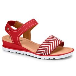 Sandália Esporão e Fascite - Vermelha - CAL7471-0005VM - Pé Relax Sapatos Confortáveis