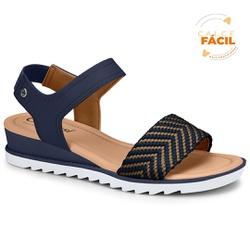Sandália Esporão e Fascite - Azul - CAL7471-0004AZ - Pé Relax Sapatos Confortáveis