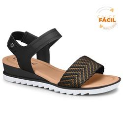 Sandália Esporão e Fascite - Preta - CAL7471-0002PT - Pé Relax Sapatos Confortáveis