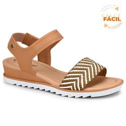 Sandália Esporão e Fascite - Camomila / Cru - CAL7471CC - Pé Relax Sapatos Confortáveis