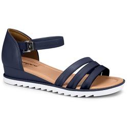 Sandália Esporão e Fascite - Azul - CAL7473AZ - Pé Relax Sapatos Confortáveis