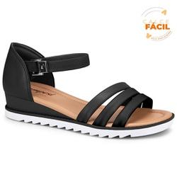 Sandália Esporão e Fascite - Preta - CAL7473PT - Pé Relax Sapatos Confortáveis