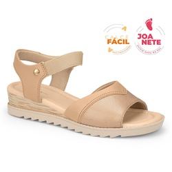 Sandália Feminina Especial para Joanete, Esporão e Fascite - Castor - CAL7722-0001CA - Pé Relax Sapatos Confortáveis